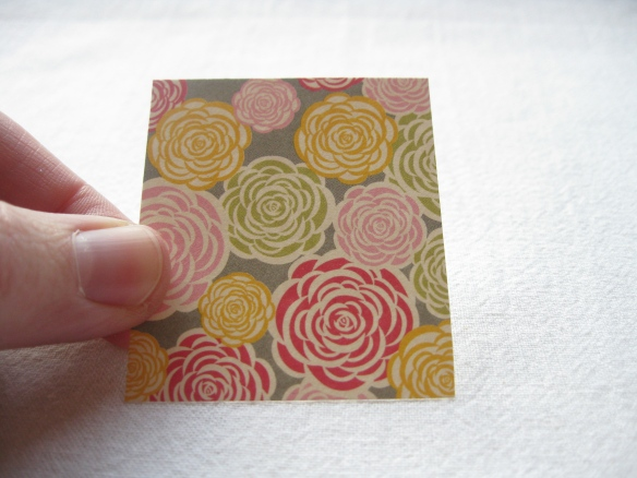 'spring is coming' rose gift tag