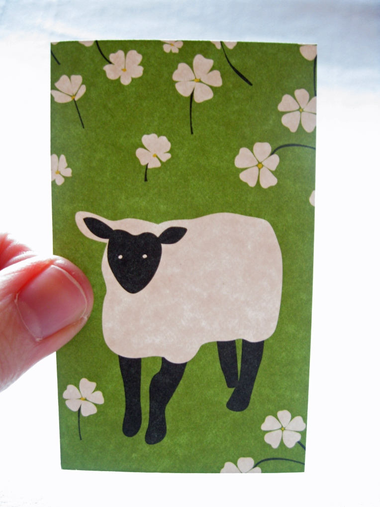 Sheeps Gift Tag From Calendar Page 1 Cup And Penny